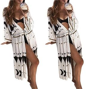 New Triangle Pattern Swimsuit Cover Up